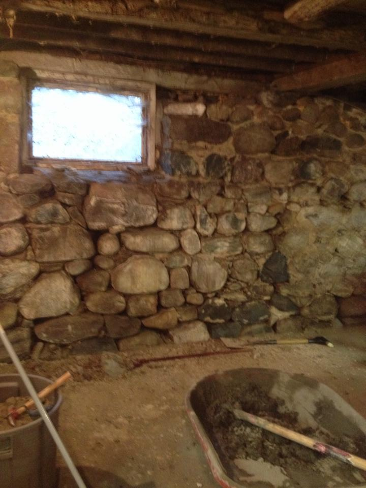 Granite Stone Foundation : Stone foundation repair barn wall restoration