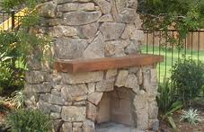 Natural Stone Fireplace Outdoors