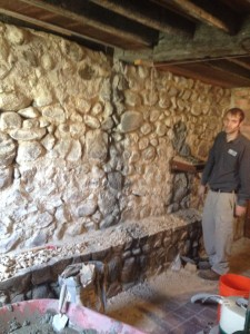 stone basment wall repair
