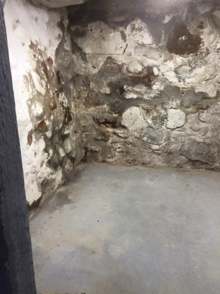 Michigan Basement Stone Wall Repairs And Restoration During Winter